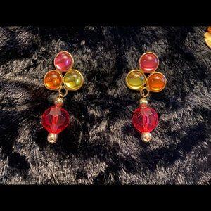 Colorful costume earrings
